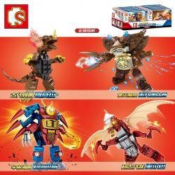 SHENG YUAN SY 108325 108326 108327 108328 Xếp hình kiểu Lego ULTRAMAN Ultraman Heros Cosmic Hero Altman Monster 4 Ancient Monsters, Dora, Destroyed The Magic Insects, The Beastle, The Universe, The Be