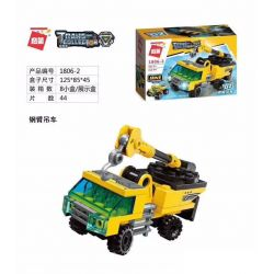 Enlighten 1806 Qman 1806 KEEPPLEY 1806 Xếp hình kiểu Lego TRANSFORMERS 8 Engineering Vehicles 8 xe kỹ thuật 310 khối