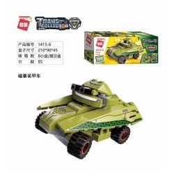 Enlighten 1415 Qman 1415 KEEPPLEY 1415 Xếp hình kiểu Lego TRANSFORMERS Thunder Expeditionary Tank 8 Combinations Các tổ hợp xe tăng viễn chinh Thunder 8 629 khối