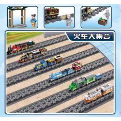 Kazi KY98245 98245 Xếp hình kiểu Lego TRAINS Mao Zedong Steam Train (small) Tàu hơi nước Mao Trạch Đông (nhỏ) 229 khối