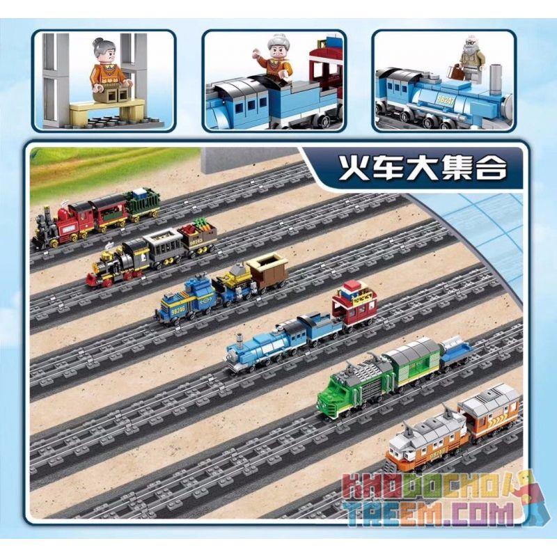 Kazi KY98247 98247 Xếp hình kiểu Lego TRAINS Blue Steam Train (small) Tàu hơi nước xanh (nhỏ) 224 khối