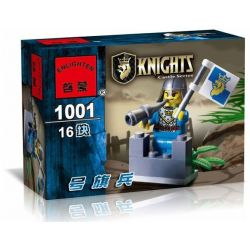 Enlighten 1001 Qman 1001 KEEPPLEY 1001 Xếp hình kiểu Lego CASTLE Flagman Người đánh cờ 16 khối