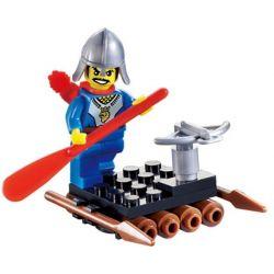 Enlighten 1003 Qman 1003 Xếp hình kiểu Lego Knights Castle Castle Raft Bè 31 khối