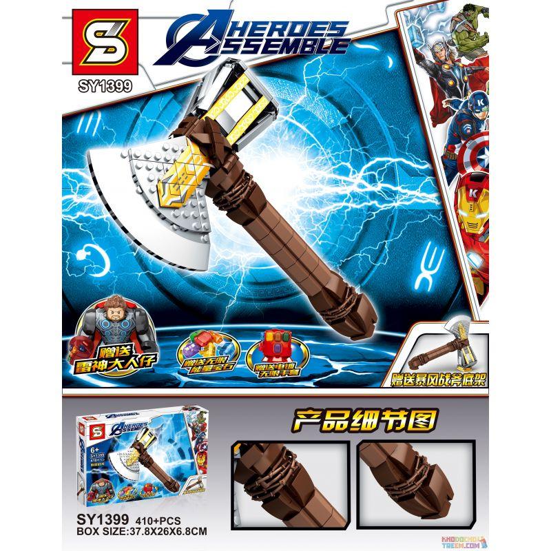 SHENG YUAN SY SY1399 1399 Xếp hình kiểu Lego MARVEL SUPER HEROES Storm Axe Rìu bão 410 khối