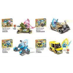 SHENG YUAN SY 1370 SY1370 1370 SY1370A 1370A SY1370B 1370B SY1370C 1370C SY1370D 1370D Xếp hình kiểu Lego DRAGON BALL SUPER 4 Types Of Vehicles 4 loại xe gồm 6 hộp nhỏ 384 khối