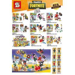 SHENG YUAN SY SY1391 1391 Xếp hình kiểu Lego FORNITE 8 Minifigures 8 nhân vật nhỏ 318 khối