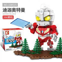 SEMBO 108515 Xếp hình kiểu Lego ULTRAMAN Ultraman Heroes Cosmic Hero Altman Diga Altman's Strong Tiga Ultraman Mạnh Mẽ 266 khối