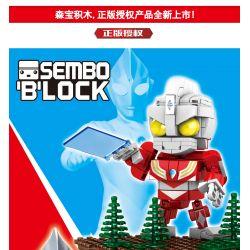 SEMBO 108515 Xếp hình kiểu Lego ULTRAMAN Tiga Ultraman Powerful Tiga Ultraman Mạnh mẽ 266 khối