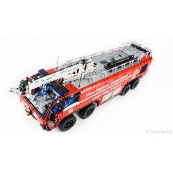 REBRICKABLE MOC-4446 4446 MOC4446 Xếp hình kiểu Lego TECHNIC Airport Rescue Vehicle Xe cứu hộ sân bay 7177 khối