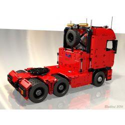 REBRICKABLE MOC-2475 2475 MOC2475 Xếp hình kiểu Lego TECHNIC Towing Truck Xe đầu kéo 4511 khối