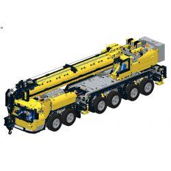 REBRICKABLE MOC-5509 5509 MOC5509 Xếp hình kiểu Lego TECHNIC Grove GMK6400 Mobile Crane MK III Cần cẩu di động Grove GMK6400 MK III 3593 khối