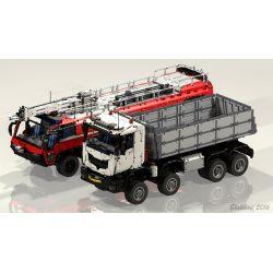 REBRICKABLE MOC-5287 5287 MOC5287 Xếp hình kiểu Lego TECHNIC Dump Truck 8X8 Xe ben 8X8 5572 khối