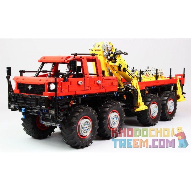 MOULDKING 13146 REBRICKABLE MOC-15805 15805 MOC15805 Xếp hình kiểu Lego TECHNIC Articulated 8×8 Off-road Truck Xe địa hình 8 × 8 có khớp nối 3053 khối