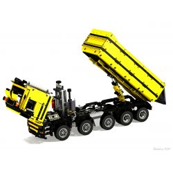 REBRICKABLE MOC-0230 0230 MOC0230 Xếp hình kiểu Lego TECHNIC Dump Truck 10X4 Xe ben 10X4 2439 khối