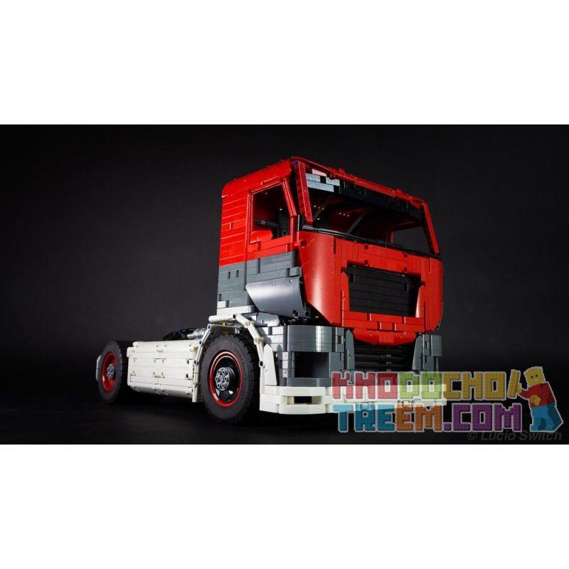 MOULDKING MOULD KING 13152 REBRICKABLE MOC-27036 27036 MOC27036 Xếp hình kiểu Lego TECHNIC Competition Truck MKII Xe tải cạnh tranh MKII 2520 khối