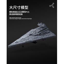 MOULDKING 13135 REBRICKABLE MOC-23556 23556 MOC23556 Xếp hình kiểu Lego STAR WARS Imperial Star Destroyer Monarch Kẻ hủy diệt Sao Đế vương 11353 khối