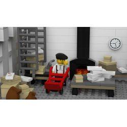 REBRICKABLE MOC-22101 22101 MOC22101 SHENZHEN RAEL ENTERTAINMENT 10011 URGE 10198 Xếp hình kiểu Lego CREATOR Plaza Post Office Bưu điện Plaza 3450 khối