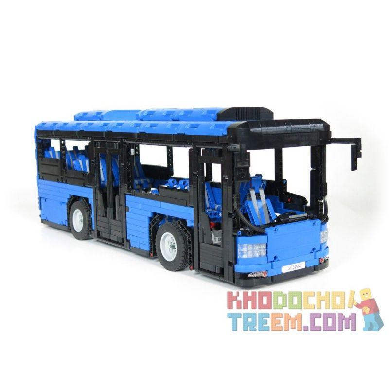 REBRICKABLE MOC-5161 5161 MOC5161 Xếp hình kiểu Lego TECHNIC Electric Bus Xe buýt điện 2673 khối