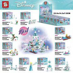 SHENG YUAN SY SY6581 6581 Xếp hình kiểu Lego Frozen 10 10 Mô Hình 231 khối
