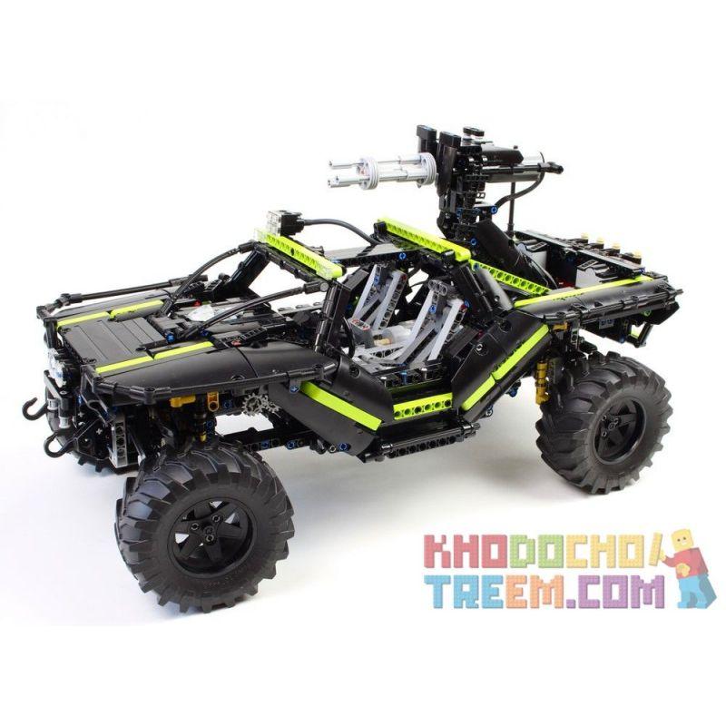 REBRICKABLE MOC-9017 9017 MOC9017 Xếp hình kiểu Lego TECHNIC Halo Warthog 1839 khối