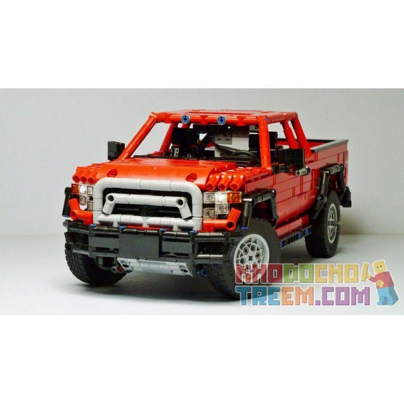 REBRICKABLE MOC-25520 25520 MOC25520 Xếp hình kiểu Lego TECHNIC Dacoma 4X4 Redux 1606 khối
