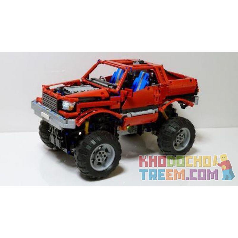 REBRICKABLE MOC-2168 2168 MOC2168 Xếp hình kiểu Lego TECHNIC Monster Truck Xe tải hạng nặng 1508 khối
