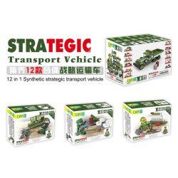 CAYI 2229 Xếp hình kiểu Lego NATIONAL WEAPON Startegic Transport Vechicle Country Of The Country 12 Combinations Of Strategic Transport Vehicles Phương Tiện Vận Tải Chiến Lược 12 Tổ Hợp