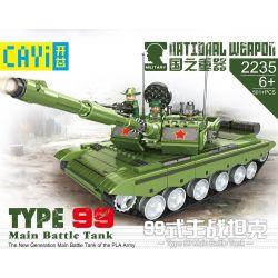 CAYI 2235 Xếp hình kiểu Lego NATIONAL WEAPON TYPE 99 Main Battle Tank Country Of The Country 99-style Main Tank Xe Tăng Chiến đấu Chủ Lực Kiểu 99 501 khối