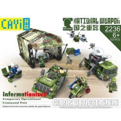 CAYI 2236 Xếp hình kiểu Lego NATIONAL WEAPON Informationized Temporary Operational Command Post Country Of The Country Information Temporary Combat Command Thông Tin Bộ Chỉ Huy Chiến Dịch Tạm Thời 703