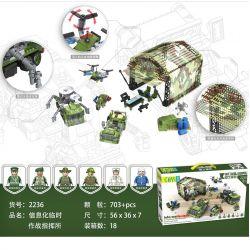 CAYI 2236 Xếp hình kiểu Lego NATIONAL WEAPON Information Temporary Operation Command Post Thông tin Bộ chỉ huy Chiến dịch Tạm thời 703 khối