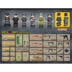QUANGUAN 100077 Xếp hình kiểu Lego HEROES & GENERALS Hero And General German World War II 6 Xe Pháo Trong Thế Chiến II Của Đức 764 khối