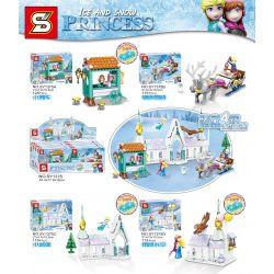 SHENG YUAN SY SY1375A 1375A SY1375B 1375B SY1375C 1375C SY1375D 1375D Xếp hình kiểu Lego Ice And Snow Princess Frozen Scene 4 Cảnh 4 gồm 4 hộp nhỏ 472 khối