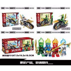 SHENG YUAN SY 7056 7056A 7056B 7056C 7056D Xếp hình kiểu Lego THE LEGO NINJAGO MOVIE 4 Elements Chariot Elemental Chariot 4 gồm 4 hộp nhỏ 770 khối