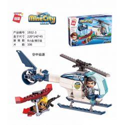 Enlighten 1932-3 Qman 1932-3 Xếp hình kiểu Lego MINECITY My City Air Chase Rượt đuổi Trên Không 106 khối