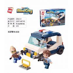 Enlighten 1932-4 Qman 1932-4 Xếp hình kiểu Lego MINECITY My City Patrol Police Car Dispatched Xe Cảnh Sát Tuần Tra điều động 121 khối