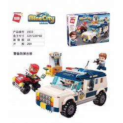 Enlighten 1933 Qman 1933 Xếp hình kiểu Lego MINECITY My City Guards Xe Jeep Chống đạn An Ninh 264 khối
