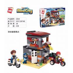 Enlighten 1934 Qman 1934 Xếp hình kiểu Lego MINECITY My City Assault Secret Nest Tấn Công Vào Một Hang ổ Bí Mật 218 khối