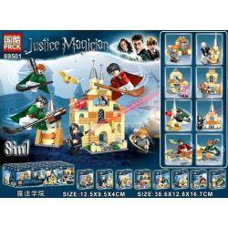 PRCK 69501 Xếp hình kiểu Lego Justice Magician Harry Potter Magic College 8 Nhân Vật Nhỏ Từ Học Viện Phép Thuật