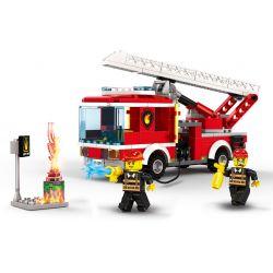 WANGE 2625 Xếp hình kiểu Lego FIRE RESCURE Fire Brigade The Aerial adder Fire Truck Fire Team Continental Fire Truck Xe Cứu Hỏa Thang 249 khối