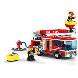 WANGE 2626 Xếp hình kiểu Lego FIRE RESCURE Fire Brigade The Elevating Platform Fire Truck Fire Team Upper Platform Fire Truck Xe Cứu Hỏa Trên Cao 275 khối