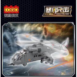 """COGO 13392 Xếp hình kiểu Lego WORLD MILITARY Mi-24 """"Doe"""" Gunship Máy bay chiến đấu Mi-24 """"Doe"""" 892 khối"""