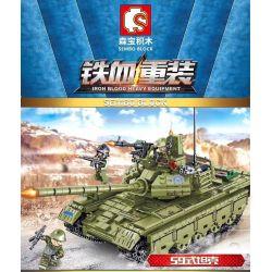 SEMBO 105682 Xếp hình kiểu Lego IRON BLOOD HEAVY EQUIPMENT Iron Blood Heavy Equipment Type 59 Medium Tank Iron Plate 59 Tanks Xe Tăng Kiểu 59 812 khối