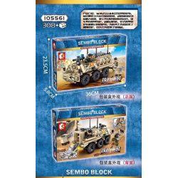 SEMBO 105561 Xếp hình kiểu Lego IRON BLOOD HEAVY EQUIPMENT Iron Blood Heavy Equipment Type 59 Medium Tank Iron Plate WMZ551JH New Armored Ambulance Xe Cứu Thương Bọc Thép Mới WMZ551JH 308 khối