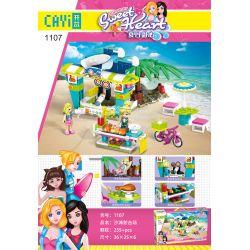 CAYI 1107 Xếp hình kiểu Lego SWEET HEART Summer Sweetheart Beach Shooting Field Trường Bắn Bãi Biển 255 khối