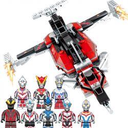 SEMBO 108101 108102 108103 108104 108105 108106 108107 108108 Xếp hình kiểu Lego ULTRAMAN Ultraman Heroes Cosmic Hero Altman GW-EXI Fighter 8 Combination Máy Bay Chiến đấu GW-EXI 8 Tổ Hợp gồm 8 hộp nh