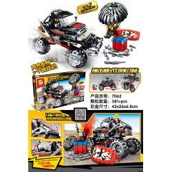 SHENG YUAN SY 7062 Xếp hình kiểu Lego GAME FOR PEACE Jedi Survival Peace Elite 552 Season Elite Black Big Feet Xe Tải Màu đen ưu Tú 552 Mùa 381 khối