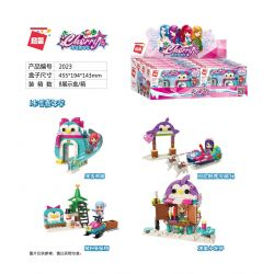 Enlighten 2023 Qman 2023 Xếp hình kiểu Lego CHERRY Ice Carnival Scene 4 Ice And Snow Slides, Alaska Snow Sudan, Dress Up Christmas Tree, Ice Sweater Khung Cảnh 4 Loại đường Trượt Băng Và Tuyết, Sân Tr