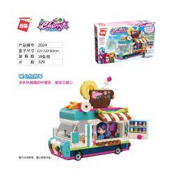Enlighten 2024 Qman 2024 Xếp hình kiểu Lego CHERRY Ice Carnival Warm Heart Xe đồ Uống Nóng ấm Lòng 329 khối
