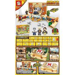 SHENG YUAN SY SY1307 1307 Xếp hình kiểu Lego PUBG BATTLEGROUNDS Jedi Survival To Eat Chicken First Aid Kit Suitcase PlayerUnknown's Battlegrounds Ăn Vali Kit Sơ Cứu Gà