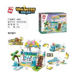 Enlighten 4804 Qman 4804 Xếp hình kiểu Lego IDEAS Unlimited Ideas Unlimited Holiday Travel Kỳ Nghỉ 316 khối